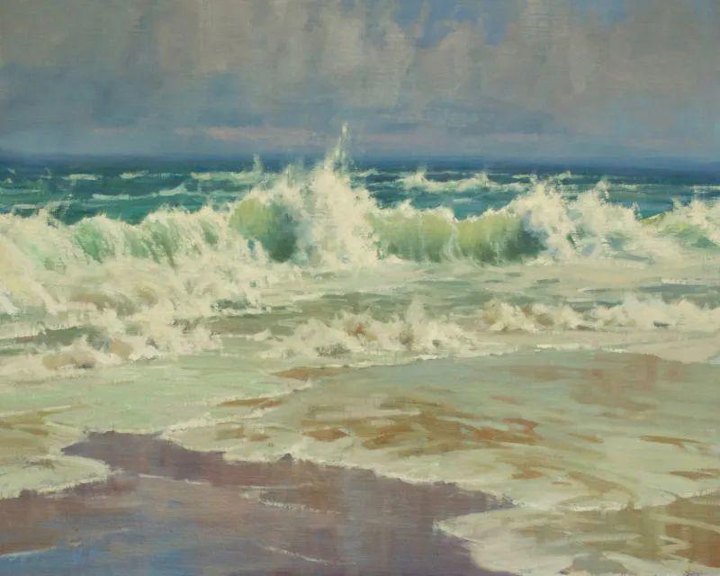 壮丽的山脉和海岸线景色,美国女画家辛迪·拜伦插图79