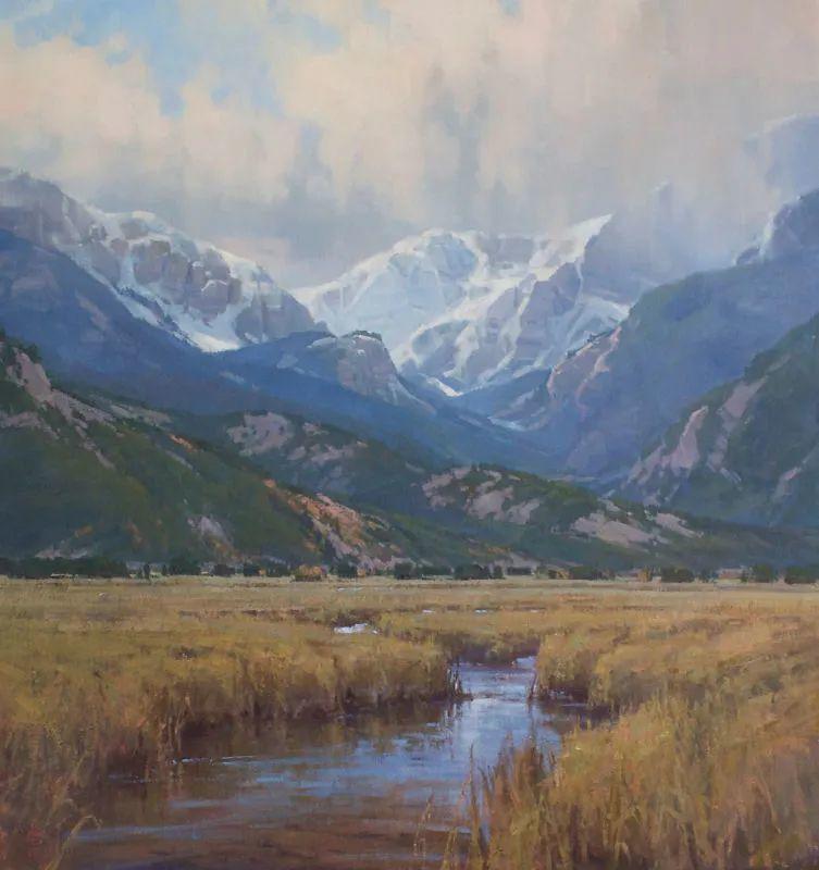壮丽的山脉和海岸线景色,美国女画家辛迪·拜伦插图81