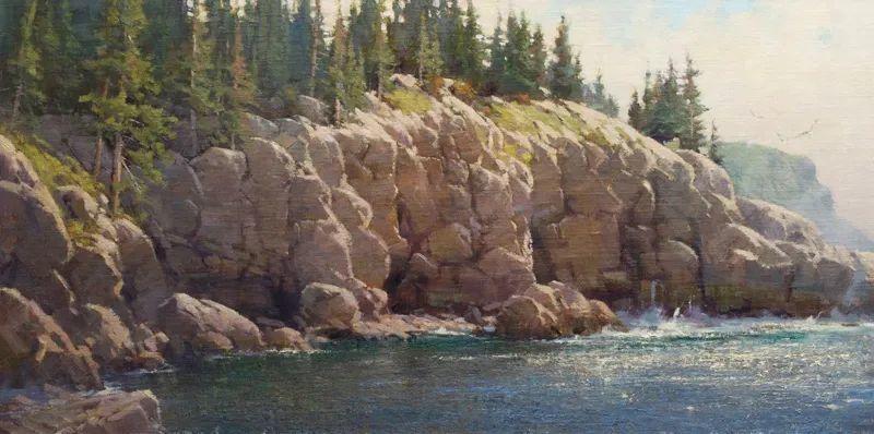 壮丽的山脉和海岸线景色,美国女画家辛迪·拜伦插图85