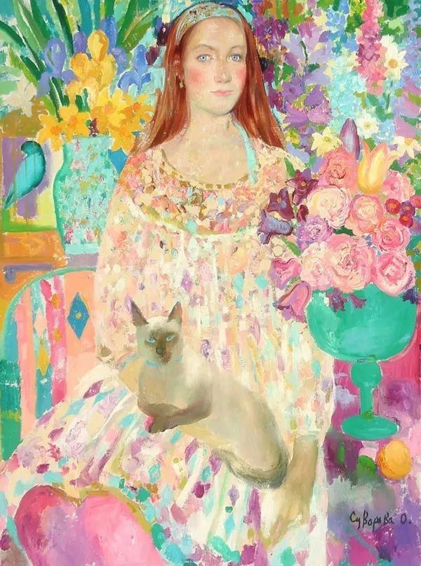 俄罗斯当代著名女画家奥尔加·苏洛娃插图23