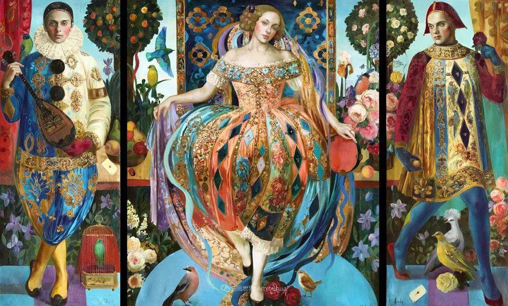 俄罗斯当代著名女画家奥尔加·苏洛娃插图45