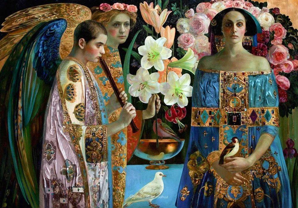 俄罗斯当代著名女画家奥尔加·苏洛娃插图53