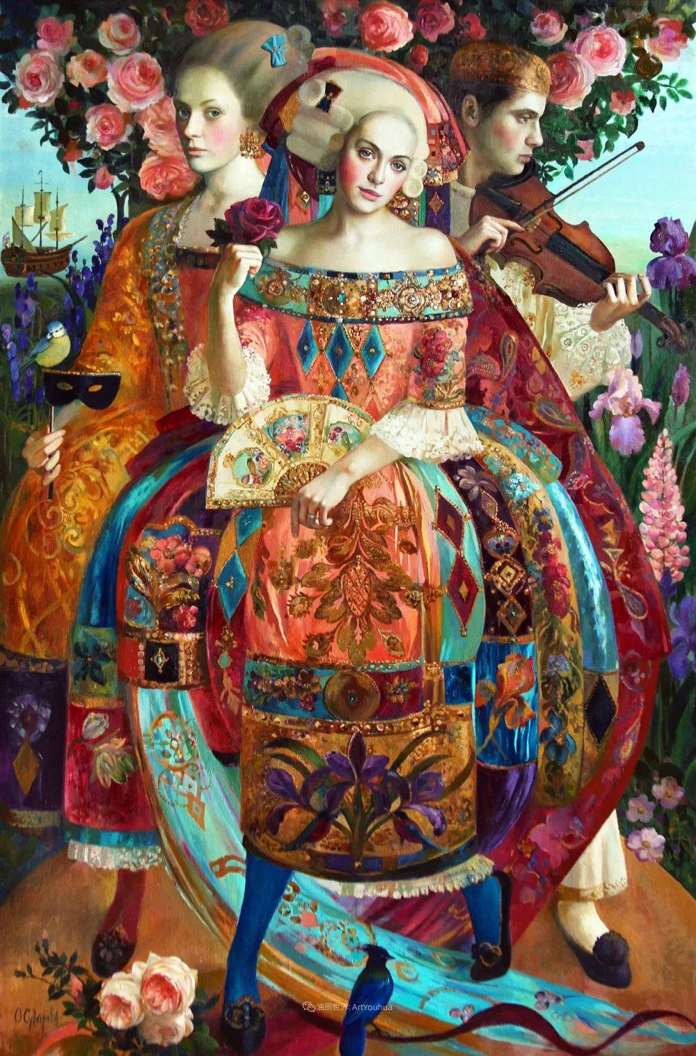 俄罗斯当代著名女画家奥尔加·苏洛娃插图55