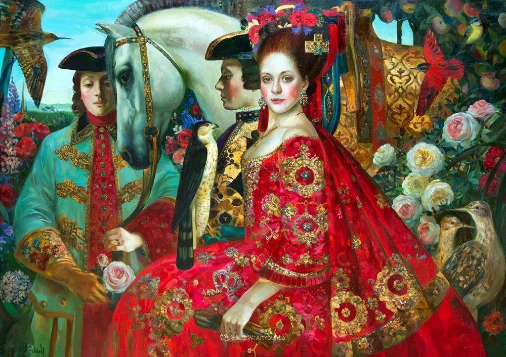 俄罗斯当代著名女画家奥尔加·苏洛娃插图57