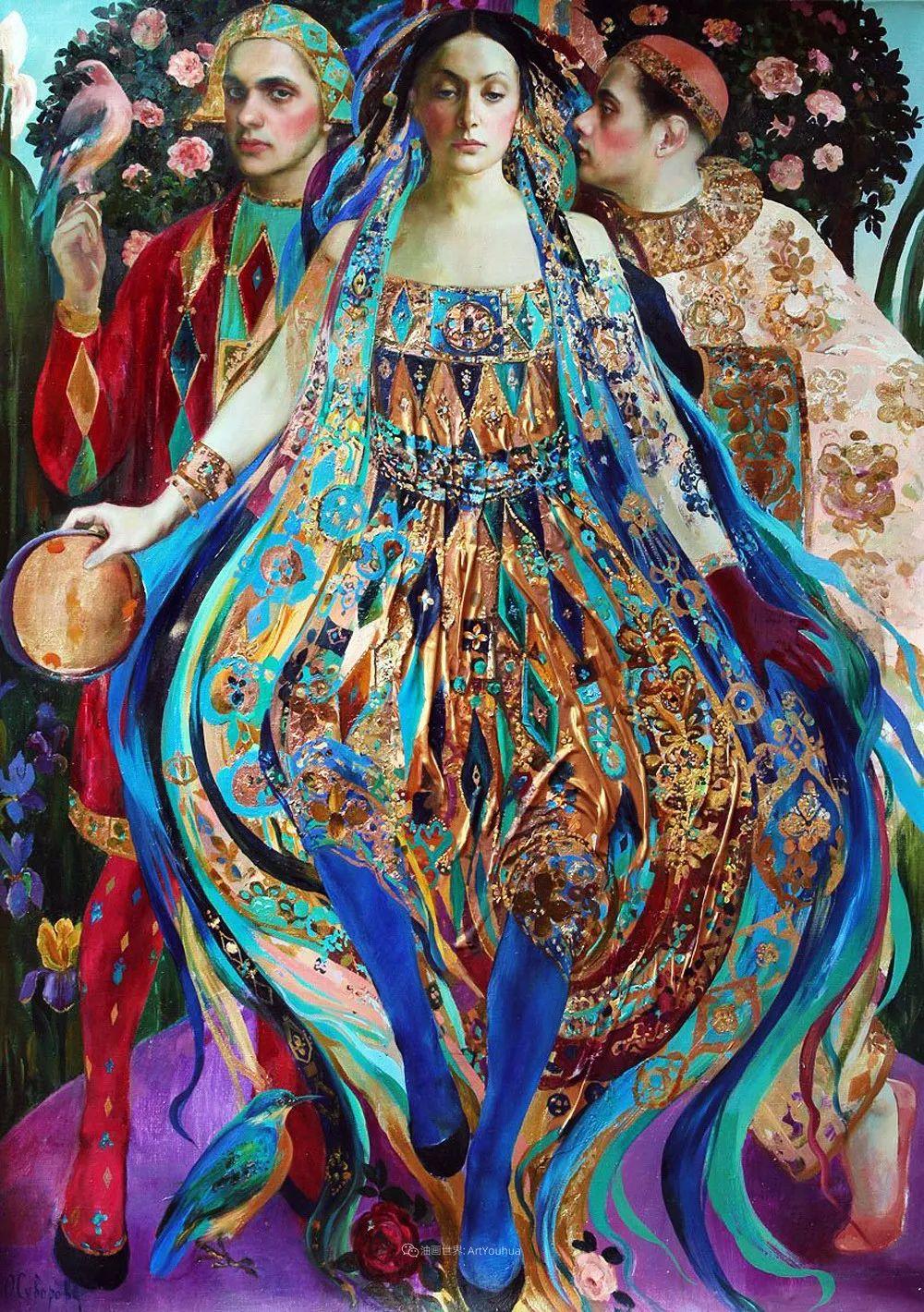 俄罗斯当代著名女画家奥尔加·苏洛娃插图61