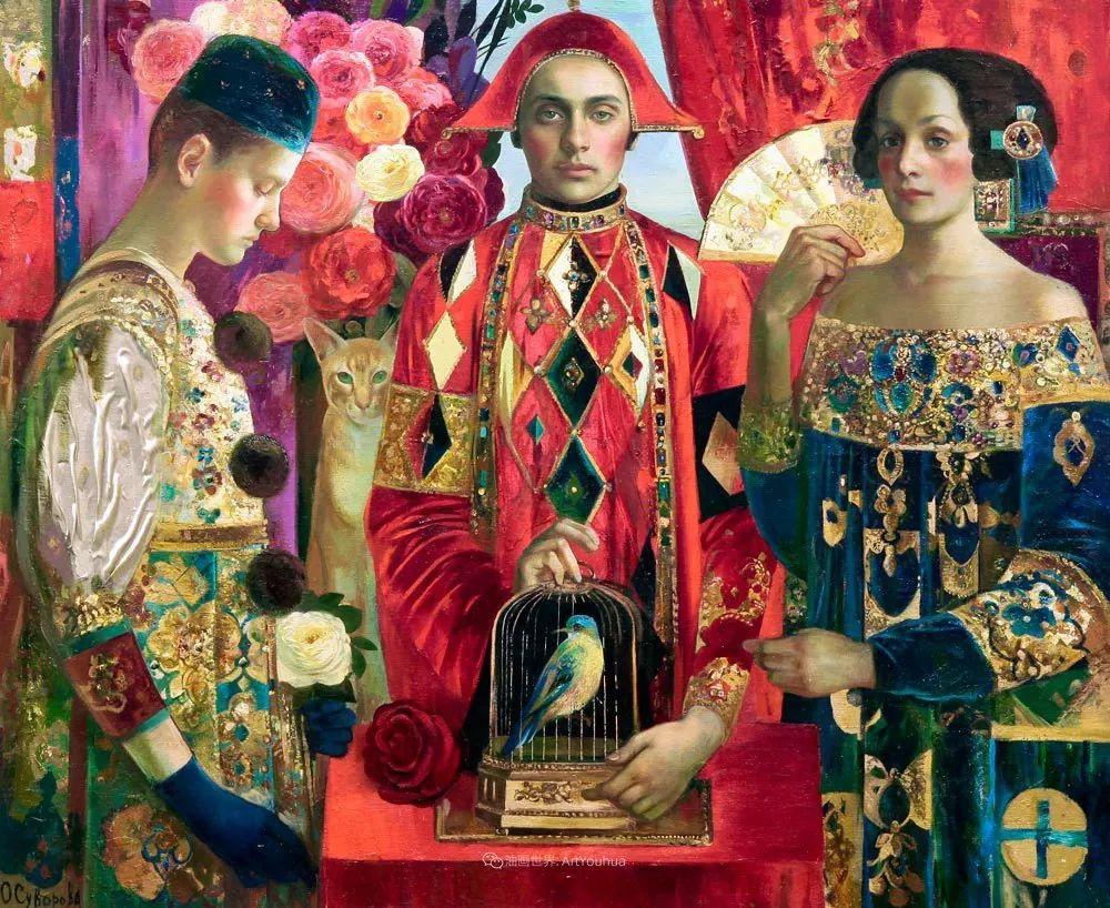 俄罗斯当代著名女画家奥尔加·苏洛娃插图99