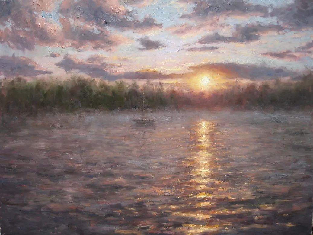 风景与静物花卉,美国画家尤金·帕普罗基插图17