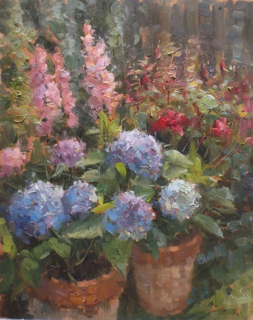 风景与静物花卉,美国画家尤金·帕普罗基插图19