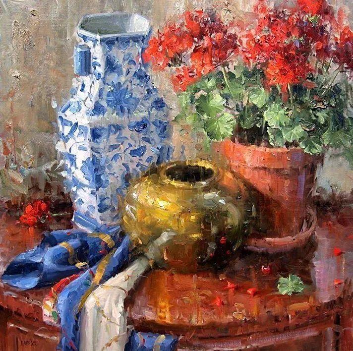 风景与静物花卉,美国画家尤金·帕普罗基插图21
