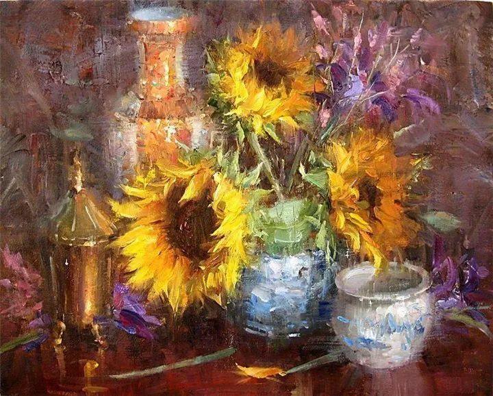 风景与静物花卉,美国画家尤金·帕普罗基插图23