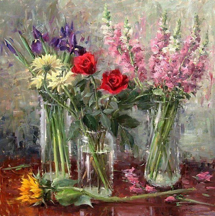 风景与静物花卉,美国画家尤金·帕普罗基插图25