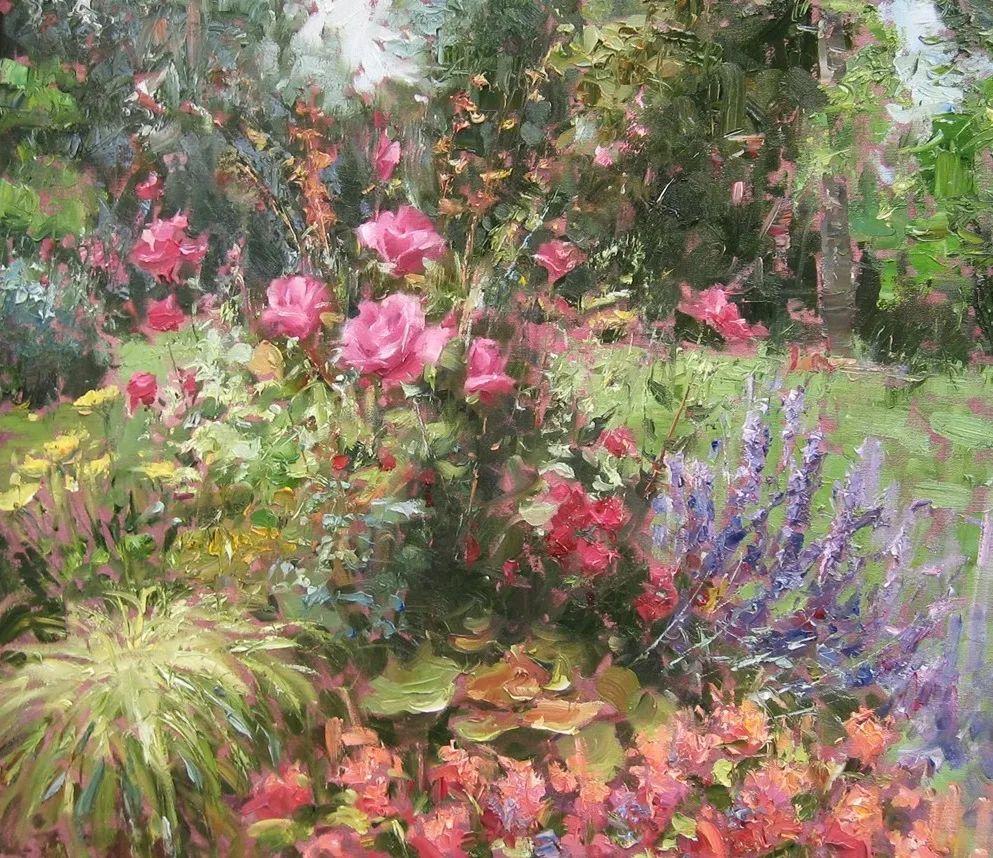 风景与静物花卉,美国画家尤金·帕普罗基插图27