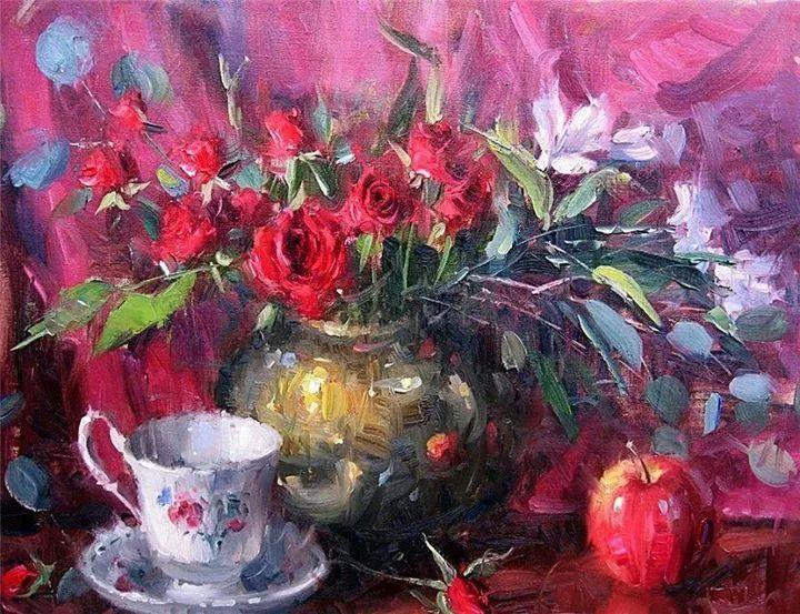 风景与静物花卉,美国画家尤金·帕普罗基插图29