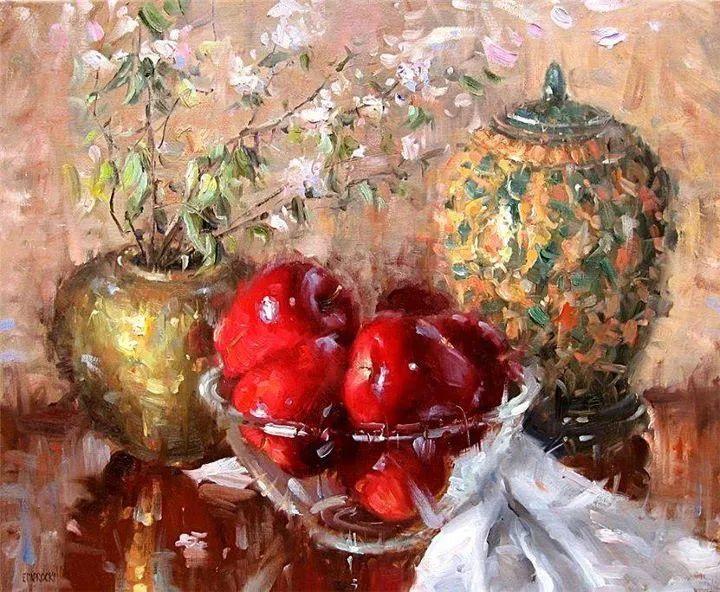 风景与静物花卉,美国画家尤金·帕普罗基插图31
