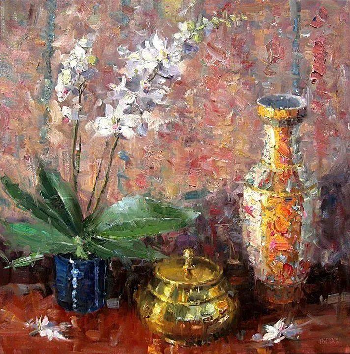 风景与静物花卉,美国画家尤金·帕普罗基插图33