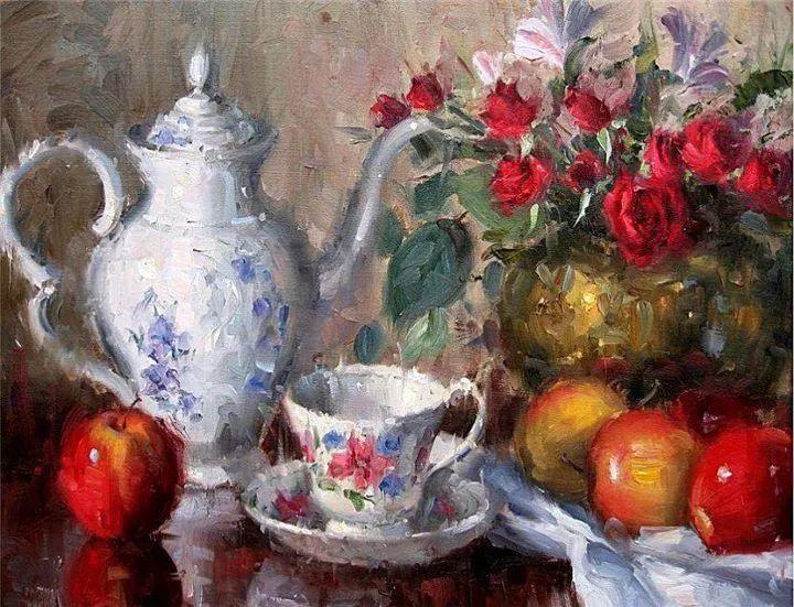 风景与静物花卉,美国画家尤金·帕普罗基插图37