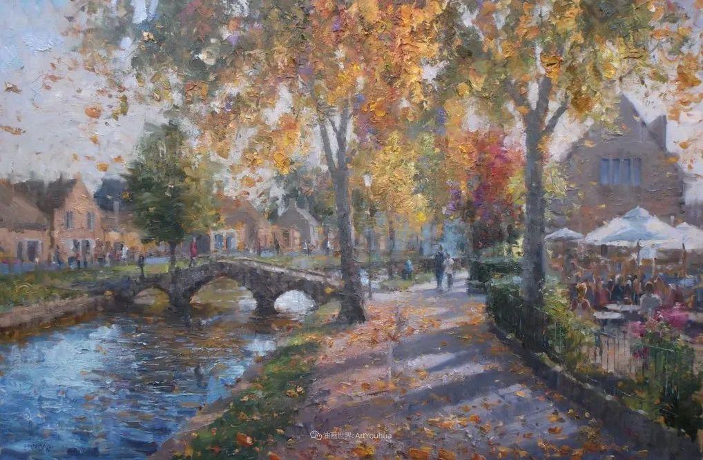 风景与静物花卉,美国画家尤金·帕普罗基插图41