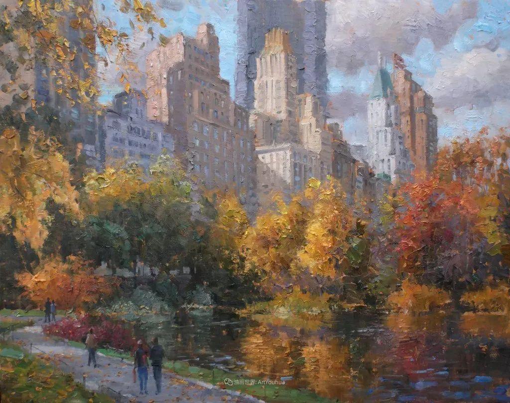风景与静物花卉,美国画家尤金·帕普罗基插图49