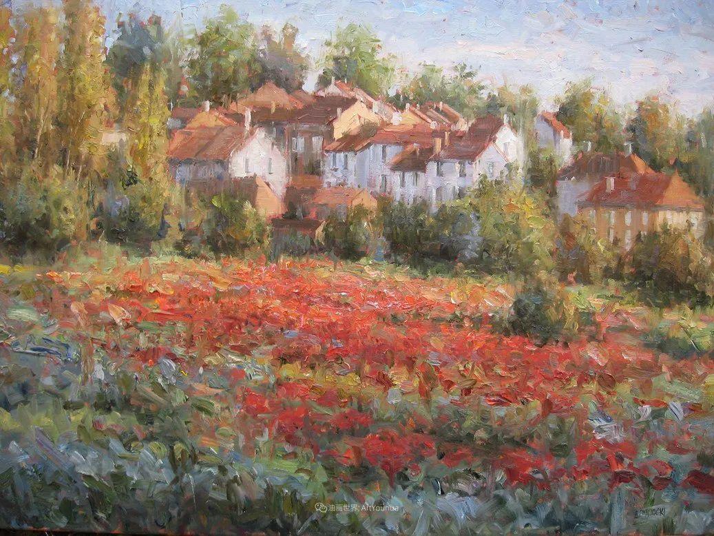 风景与静物花卉,美国画家尤金·帕普罗基插图75