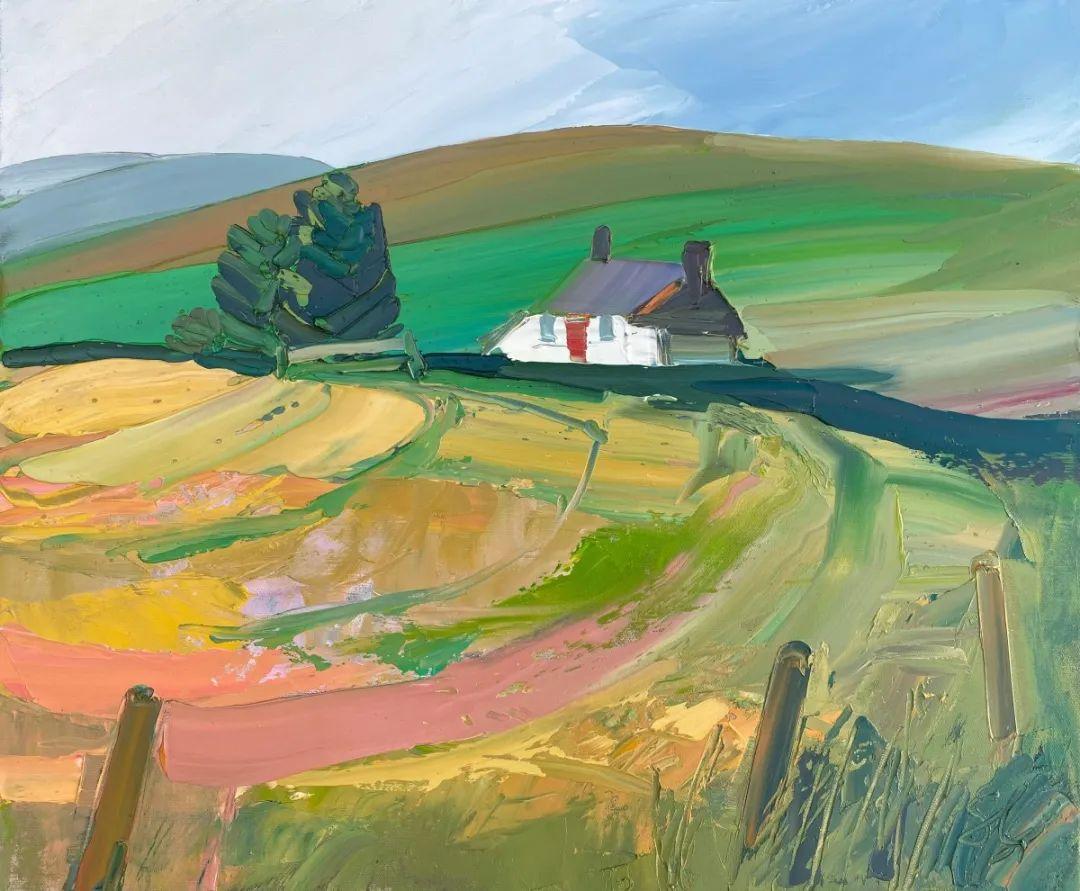 色块分明的风景画,富有表现力的厚涂画法!插图