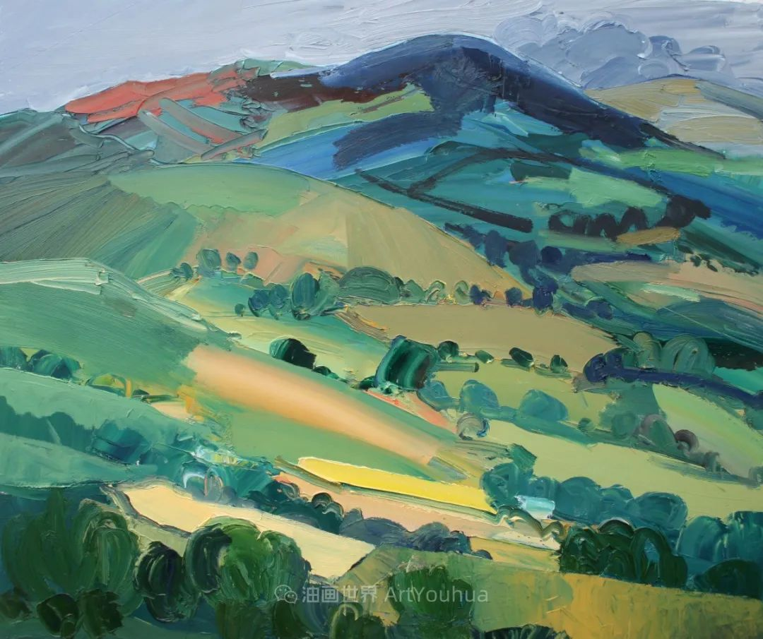 色块分明的风景画,富有表现力的厚涂画法!插图2