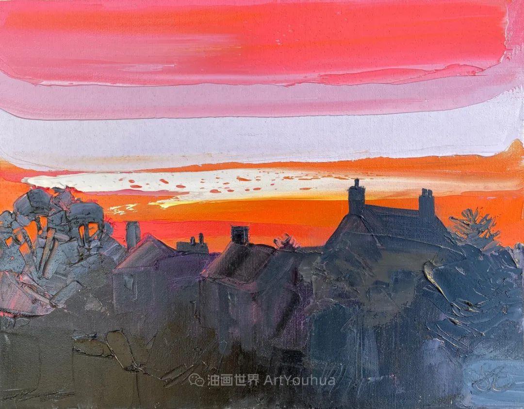 色块分明的风景画,富有表现力的厚涂画法!插图11