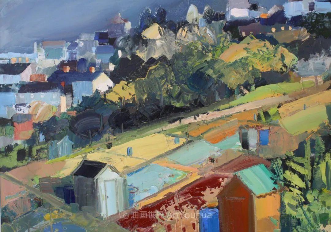 色块分明的风景画,富有表现力的厚涂画法!插图12