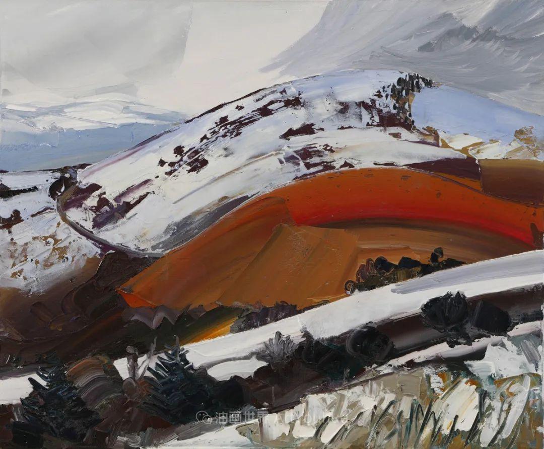 色块分明的风景画,富有表现力的厚涂画法!插图14