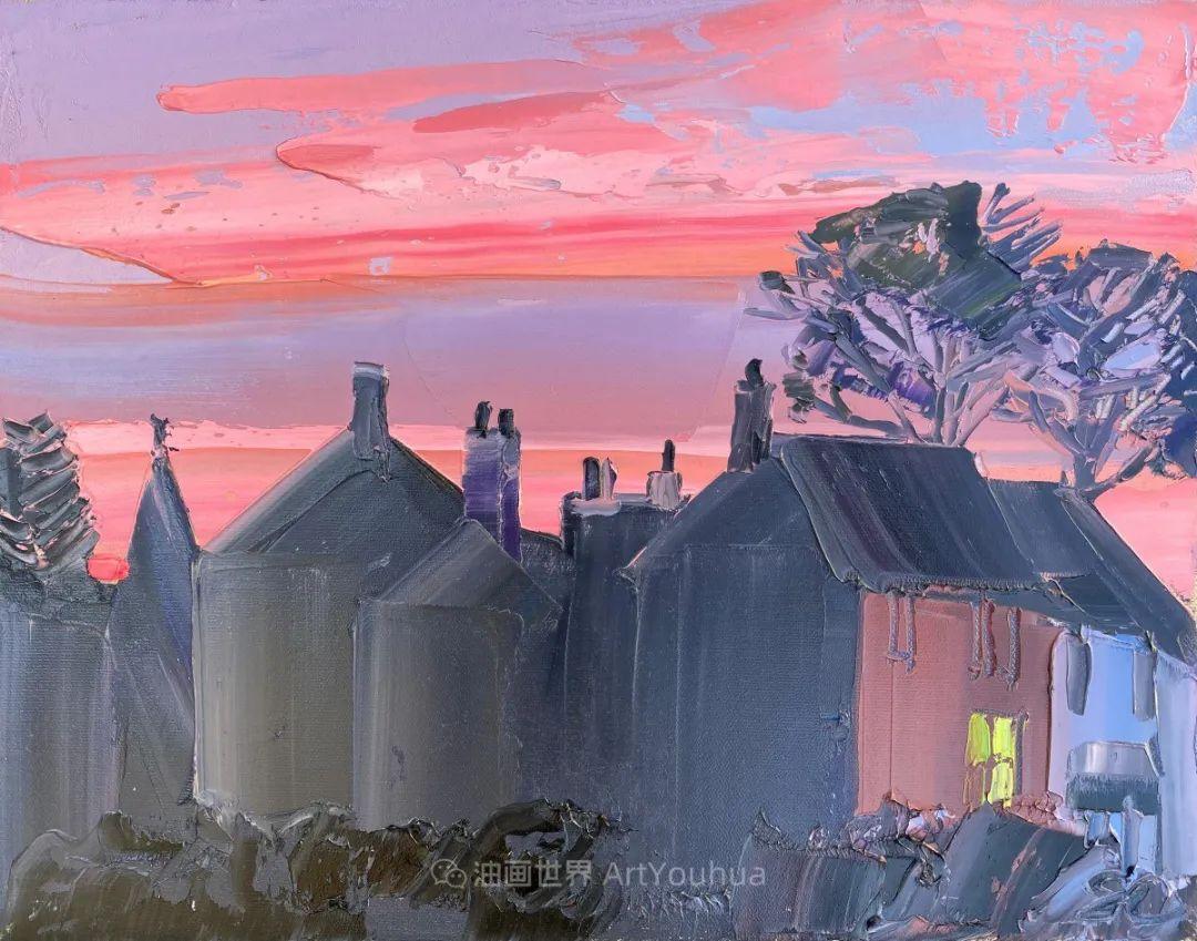 色块分明的风景画,富有表现力的厚涂画法!插图15