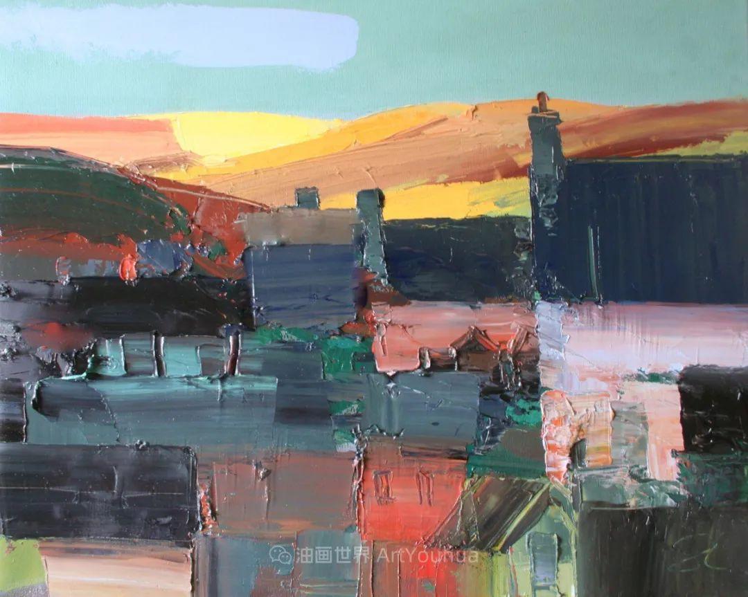 色块分明的风景画,富有表现力的厚涂画法!插图32