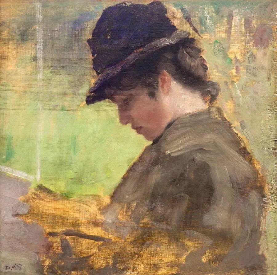 风格独特,莫名的好看,意大利画家朱塞佩·德·尼蒂斯插图75