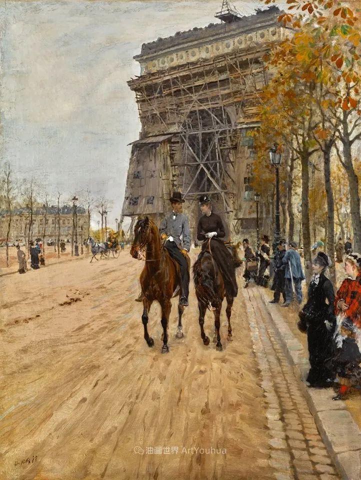 风格独特,莫名的好看,意大利画家朱塞佩·德·尼蒂斯插图87