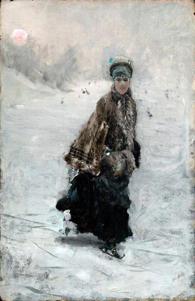 风格独特,莫名的好看,意大利画家朱塞佩·德·尼蒂斯插图115