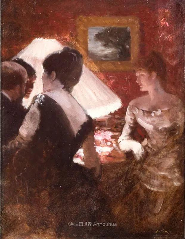 风格独特,莫名的好看,意大利画家朱塞佩·德·尼蒂斯插图125