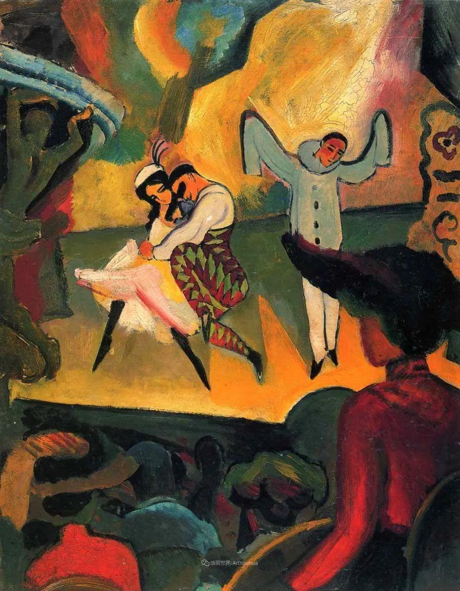 色彩既纯又亮,闪耀着诱人的光彩,德国画家奥古斯特·马克插图55