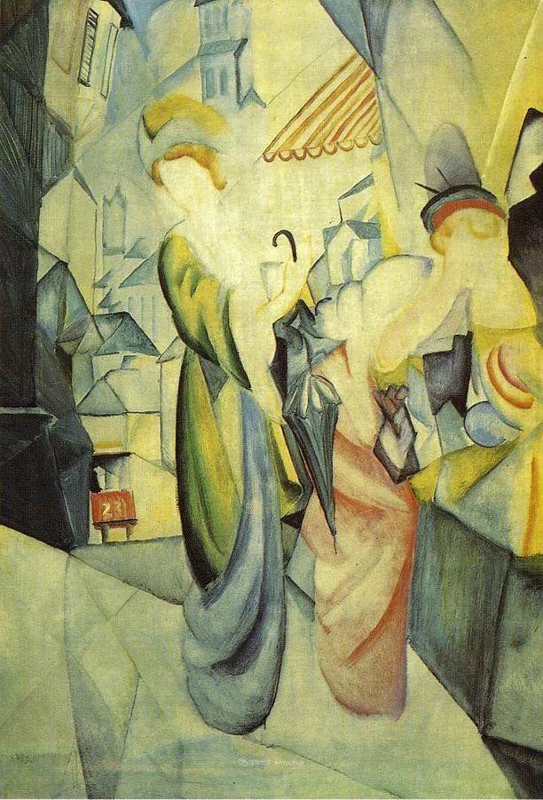 色彩既纯又亮,闪耀着诱人的光彩,德国画家奥古斯特·马克插图91