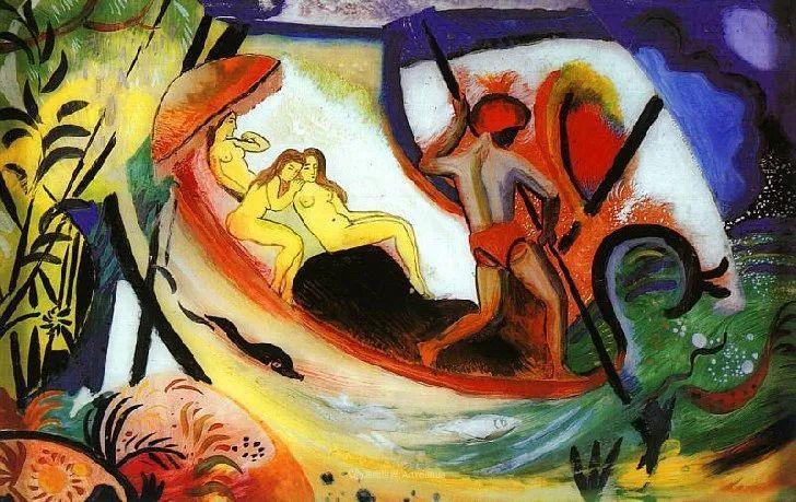 色彩既纯又亮,闪耀着诱人的光彩,德国画家奥古斯特·马克插图97