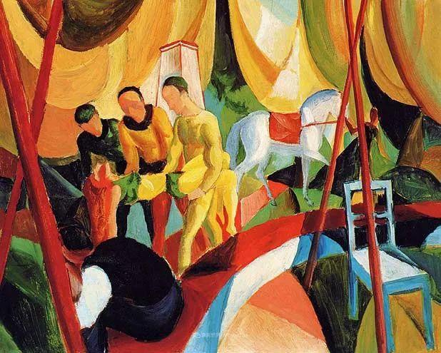 色彩既纯又亮,闪耀着诱人的光彩,德国画家奥古斯特·马克插图99