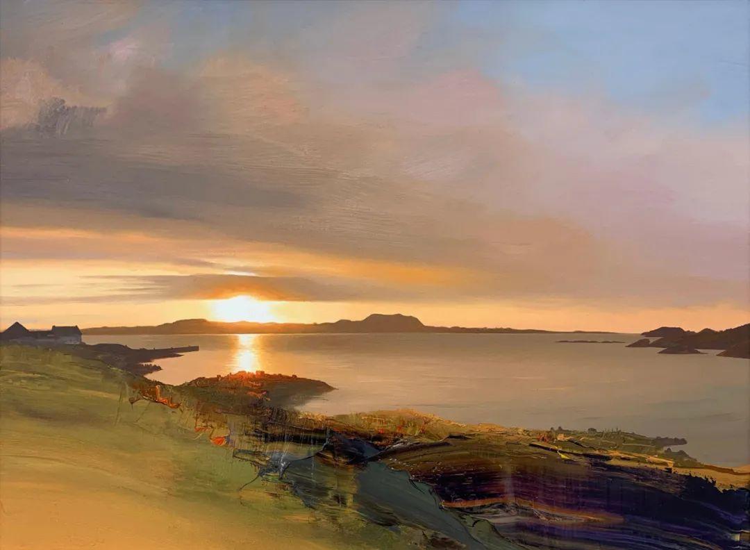 干净简约的油画风景,英国画家克里斯·布什插图1