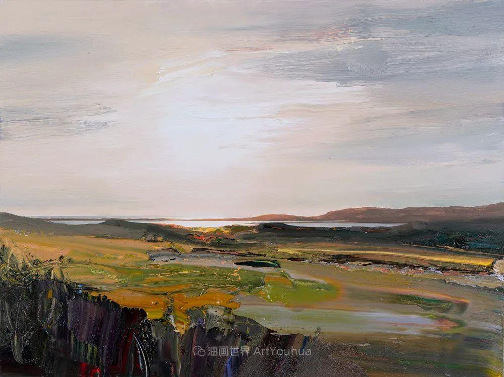 干净简约的油画风景,英国画家克里斯·布什插图3