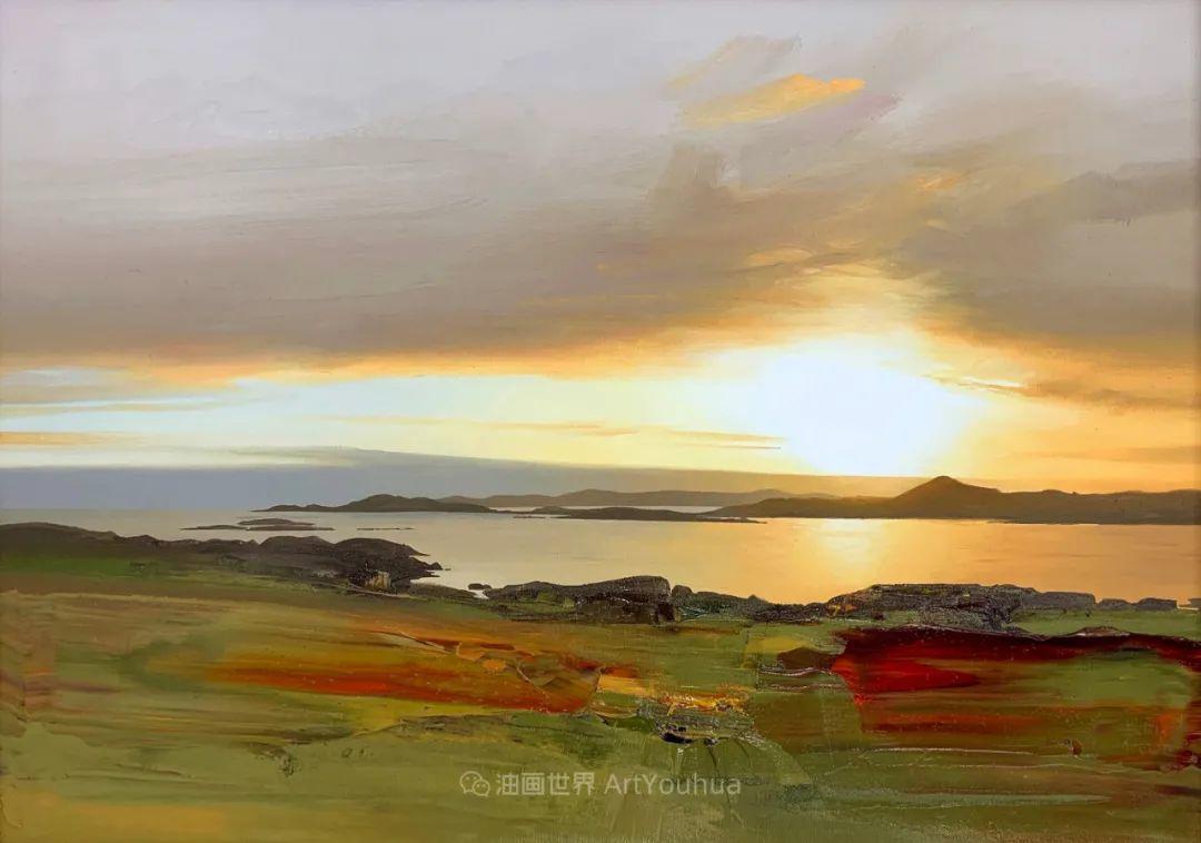 干净简约的油画风景,英国画家克里斯·布什插图5