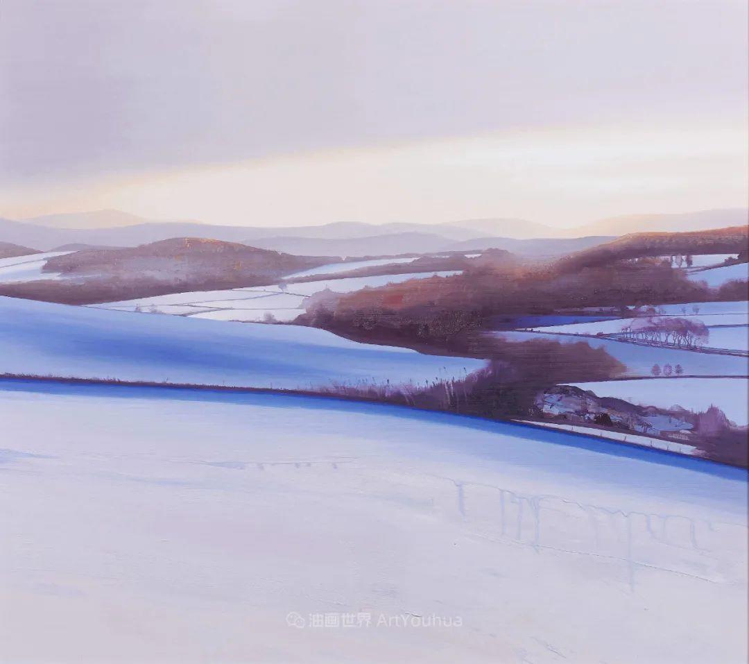 干净简约的油画风景,英国画家克里斯·布什插图7