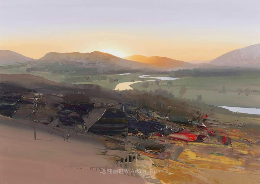 干净简约的油画风景,英国画家克里斯·布什插图9