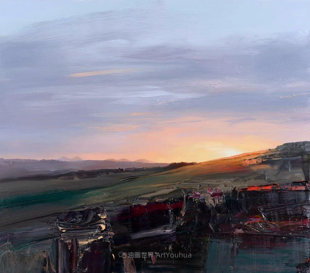 干净简约的油画风景,英国画家克里斯·布什插图11