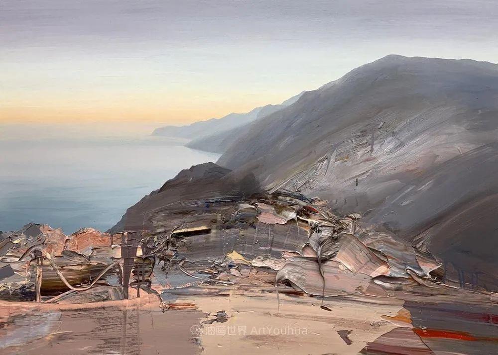 干净简约的油画风景,英国画家克里斯·布什插图15