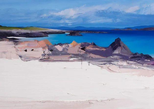 干净简约的油画风景,英国画家克里斯·布什插图19