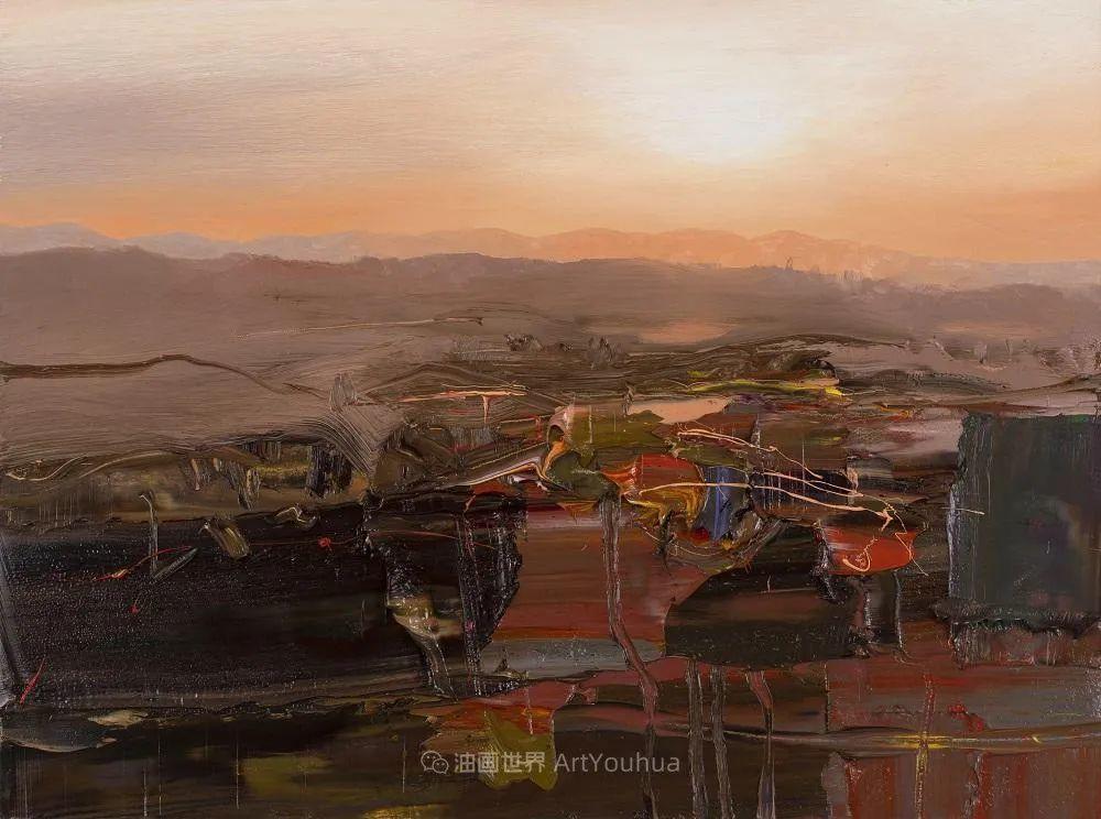 干净简约的油画风景,英国画家克里斯·布什插图25
