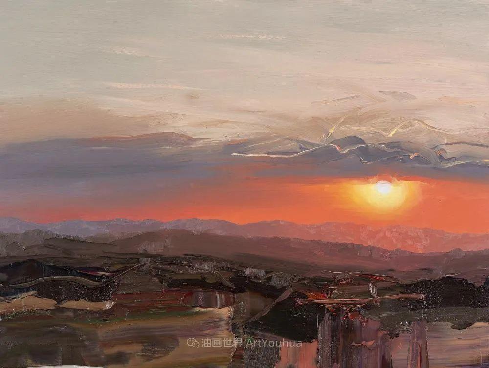干净简约的油画风景,英国画家克里斯·布什插图27