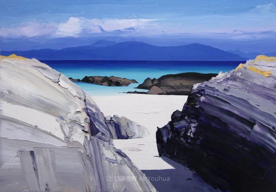 干净简约的油画风景,英国画家克里斯·布什插图31