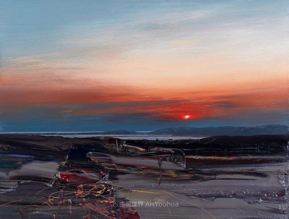 干净简约的油画风景,英国画家克里斯·布什插图33
